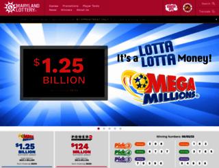 mdlottery.com screenshot