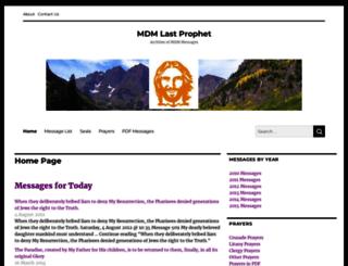 mdmlastprophet.com screenshot
