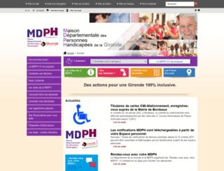 mdph33.fr screenshot