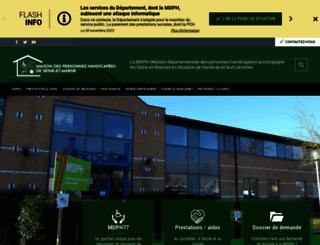 mdph77.fr screenshot