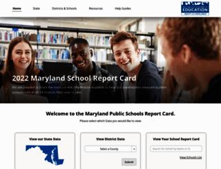 mdreportcard.org screenshot