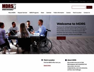 mdrs.ms.gov screenshot