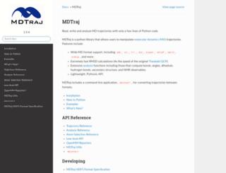 mdtraj.org screenshot