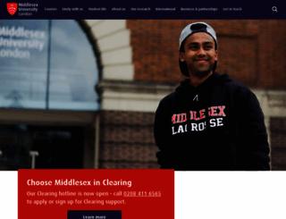 mdx.ac.uk screenshot