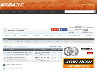 mdx.acurazine.com screenshot