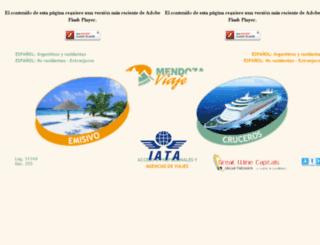 mdzviajes.com.ar screenshot