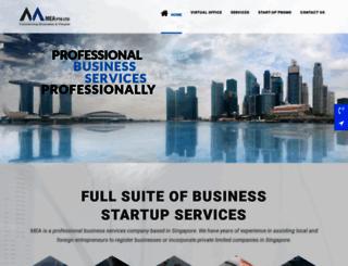 mea.com.sg screenshot