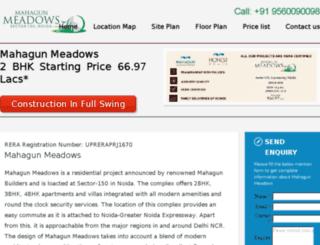 meadowsmahagun.in screenshot