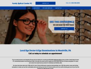 meadvillefamilyoptical.com screenshot
