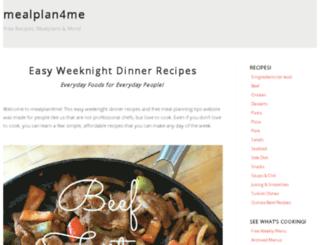 mealplan4me.com screenshot
