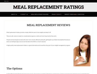 mealreplacementratings.com screenshot