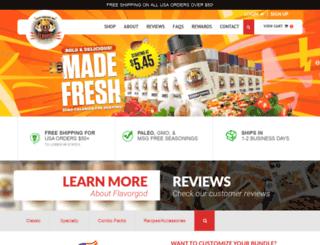 meals.flavorgod.com screenshot