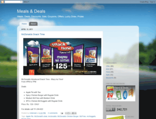 mealsdeals.blogspot.com screenshot