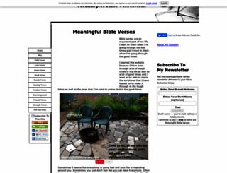 meaningfulbibleverses.com screenshot