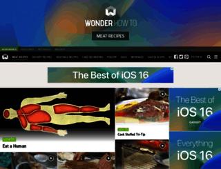 meat-recipes.wonderhowto.com screenshot