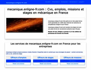 mecanique.enligne-fr.com screenshot