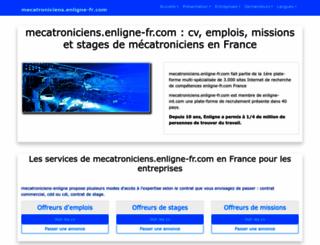 mecatroniciens.enligne-fr.com screenshot