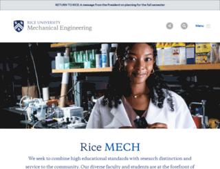 mech.rice.edu screenshot