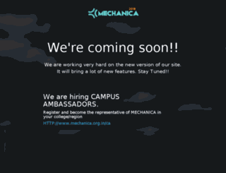 mechanica.org.in screenshot