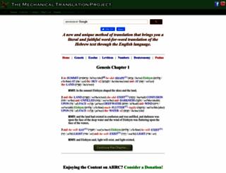 mechanical-translation.org screenshot