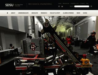 mechanical.sdsu.edu screenshot