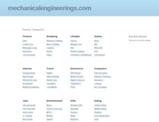 mechanicalengineerings.com screenshot