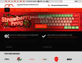 mechanicalkeyboards.com screenshot