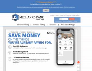 mechanicsbankms.com screenshot