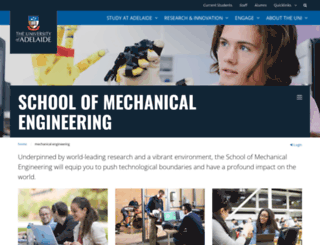 mecheng.adelaide.edu.au screenshot
