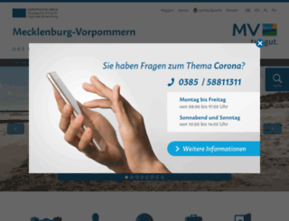 mecklenburg-vorpommern.eu screenshot