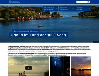 mecklenburgische-seenplatte.de screenshot