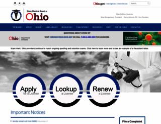 med.ohio.gov screenshot