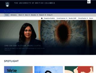 med.ubc.ca screenshot