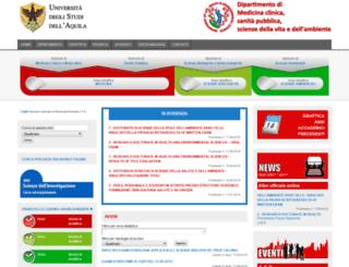 med.univaq.it screenshot