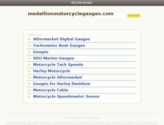 medallionmotorcyclegauges.com screenshot
