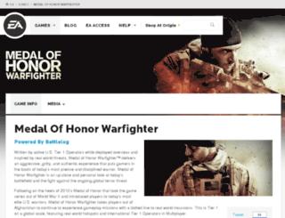 medalofhonor.com screenshot