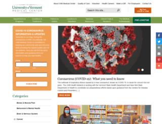 medcenterblog.uvmhealth.org screenshot