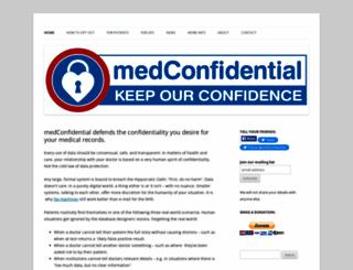 medconfidential.org screenshot