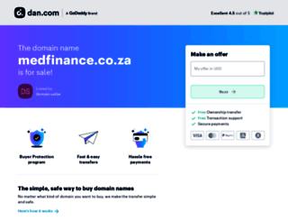 medfinance.co.za screenshot