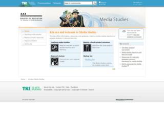 media-studies.tki.org.nz screenshot