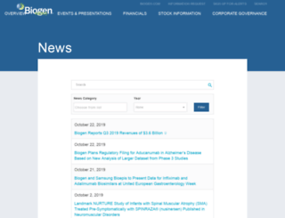 media.biogen.com screenshot