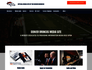 media.denverbroncos.com screenshot