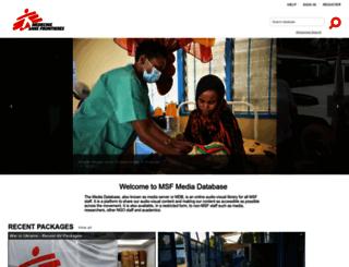 media.msf.org screenshot