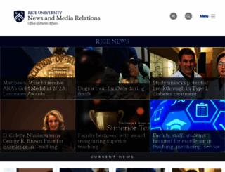 media.rice.edu screenshot