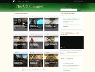 media.uoregon.edu screenshot