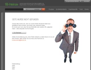 media2.heinze.de screenshot