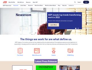 mediacenter.adp.com screenshot
