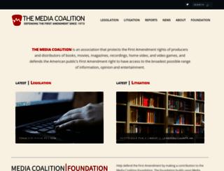mediacoalition.org screenshot