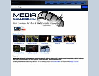 mediacollege.com screenshot