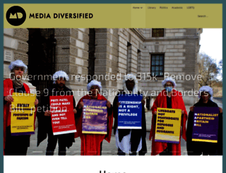 mediadiversified.org screenshot